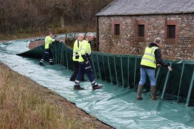 Aquobex - Model Rapidam Flexi - Portable Flood Barrier