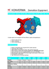 Model HCR - Concrete Crushers / Demolition Shears Brochure