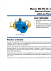 Model 106 / 206-PR-48 Pressure Reducing Valve with Low Flow By-Pass Datasheet