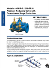 Singer Valve - Models 106-PR-S / 206-PR-S - Pressure Reducing Valve with Downstream Surge Protection Datasheet