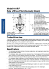 Model 160-RF - Rate of Flow Control Valve Datasheet