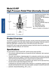 Model 83-RP - High Pressure Relief Pilot Datasheet