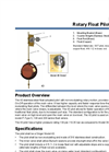 Model 43 Rotary Float Pilot (On/Off) Datasheet