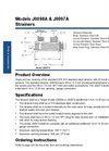 Models J0098A & J0097A - Stainless Steel Strainer Datasheet