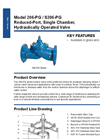 Model 206-PG / S206-PG - Reduced-Port, Single Chamber, Hydraulically Operated Valve Brochure