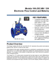 Models 106-2SC-MV / 206-2SC-MV - Electronic Flow Control and Metering System