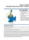Models 106-DW / 206-DW - Deep Well Pump Control Valve – Double Chamber Brochure
