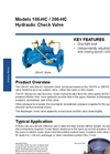 Models 106-HC / 206-HC - Hydraulic Check Valves Brochure