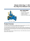 Models 106-A-Type 1 / 206-A-Type 1 - Two-Way Flow Altitude Control Valve Brochure