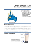 Models 106-A-Type 2 / 206-A-Type 2 - One-Way Flow Altitude Control Valve Brochure