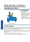 Models 106-A-Type 4 / 206-A-Type 4 - One-Way Flow Altitude Control Valve with Differential Control Brochure