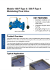 Models 106-F-Type 4 / 206-F-Type 4 - Modulating Float Valve Brochure