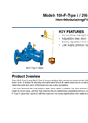 Models 106-F-Type 5 / 206-F-Type 5 - Non-Modulating Float Valve Brochure