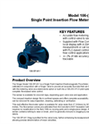 Model 106-SPI-MV - Single Point Insertion Electromagnetic Flow Meter Brochure