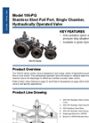 Singer Valve - Model 106-PG - Stainless Steel Full Port, Single Chamber, Hydraulically Operated Valve Datasheet