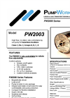 PW2003 High Flow, UL-Listed, Rate-Controllable Liquid Pump For Hazardous Locations Brochure