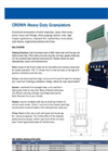 Crown - Heavy Duty Granulator Brochure