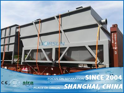 Jorsun - Model LST2 series with sludge scraper - Lamella Clarifier
