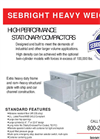 Sebright - Heavy Weights - High Performance Stationary Compactors Brochure