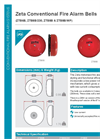 Zeta - Model ZTB6B - Fire Alarm Bells Brochure