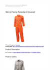 Men's Flame Retardant Coverall Brochure