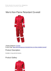 Men's Non-Flame Retardant Coverall Brochure