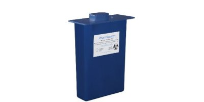 Model 4130R - 3 Gallon Blue Disposable Pharmaceutical Container