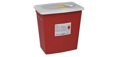SharpSafety - Model PG2 - Biomax Sharps Container, Slide Top 12 Gal