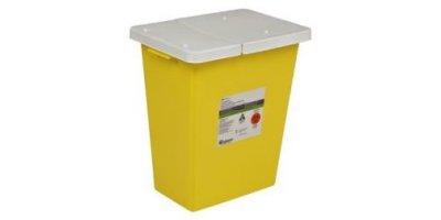 SharpSafety - Model 8931 - Chemotherapy Container, Hinged Lid 12 Gal