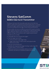 Stevens SatComm - Model GOES CS2/v2.0 - Transmitter - Datasheet
