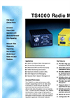 Teledesign - Model TS4000 - Radio Modem - Datasheet