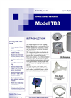 Model TB3 - Tipping Bucket Rain Gage Datasheet