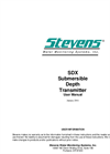 Stevens - SDX - Submersible Depth Transmitter User Manual
