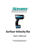 Stevens - Model SVR - Portable Surface Velocity Radar - User Manual