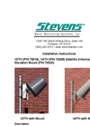 Stevens - V2TH & V4TH - Satellite Antennas -  Installation Instructions Manual