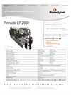 SunDyne Pinnacle - Model LF-2000 - Brochure