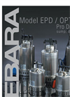 EBARA - Model EPD / Optima - Submersible Stainless Steel Drainage Pump Brochure