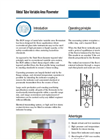 Model BGN - Metal Tube Variable Area Flowmeter Brochure