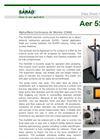 Aer - Model 5200 - Portable Alpha/Beta Continuous Air Monitor (CAM) Brochure