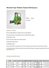Agrose - Mounted Type Medium Chassis Field Sprayer - Brochure