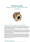 Strainer Superior Flow Conditioning and Meter Protection Datasheet