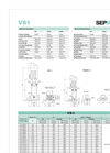 Model VS Series - Stainless Steel Inline Pumps Brochure