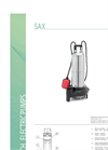 Model SAX - Submersible Draining Electric Drainage Pump Brochure