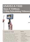 Model USAVS4-4-1500 4mm X 1500mm - 4-Way Articulating Portable Recording Videoscope - Datasheet