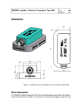 Rittmeyer - Model Type G05 - RISONIC modular - Clamp-on Transducer - Datasheet