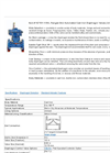 Model 1/2 - Unlined Flanged End Automated Cast Iron Diaphragm Valves Brochure
