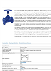 Model 1/2 - Unlined Flanged End Manual Stainless Steel Diaphragm Valves  Brochure