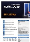 Model BEP 235Wp - Multi-Crystalline Photovoltaic  Module Brochure