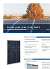 Model FU 240 / 245 / 250 / 255 / 260 P - Polycrystalline Photovoltaic Module Brochure