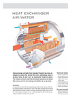 Heat Exchanger Air/Water Brochure
